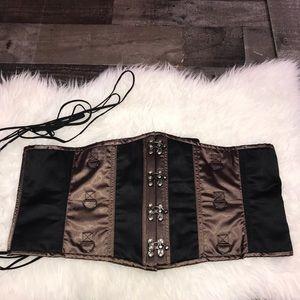 Underbust Corset Brown Black Plus Size Lingerie